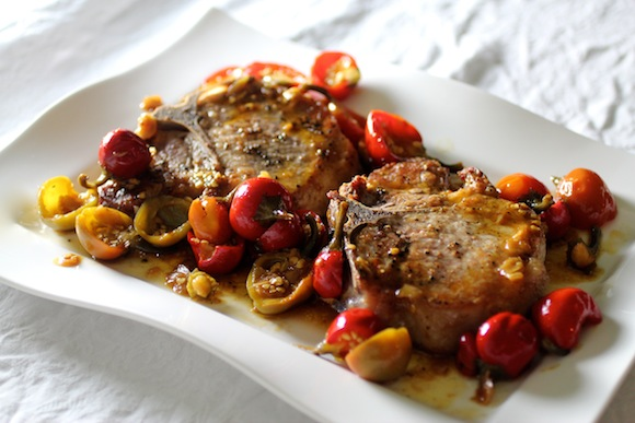 Old School: Pork Chops with Pickled Cherry Pepper Sauce