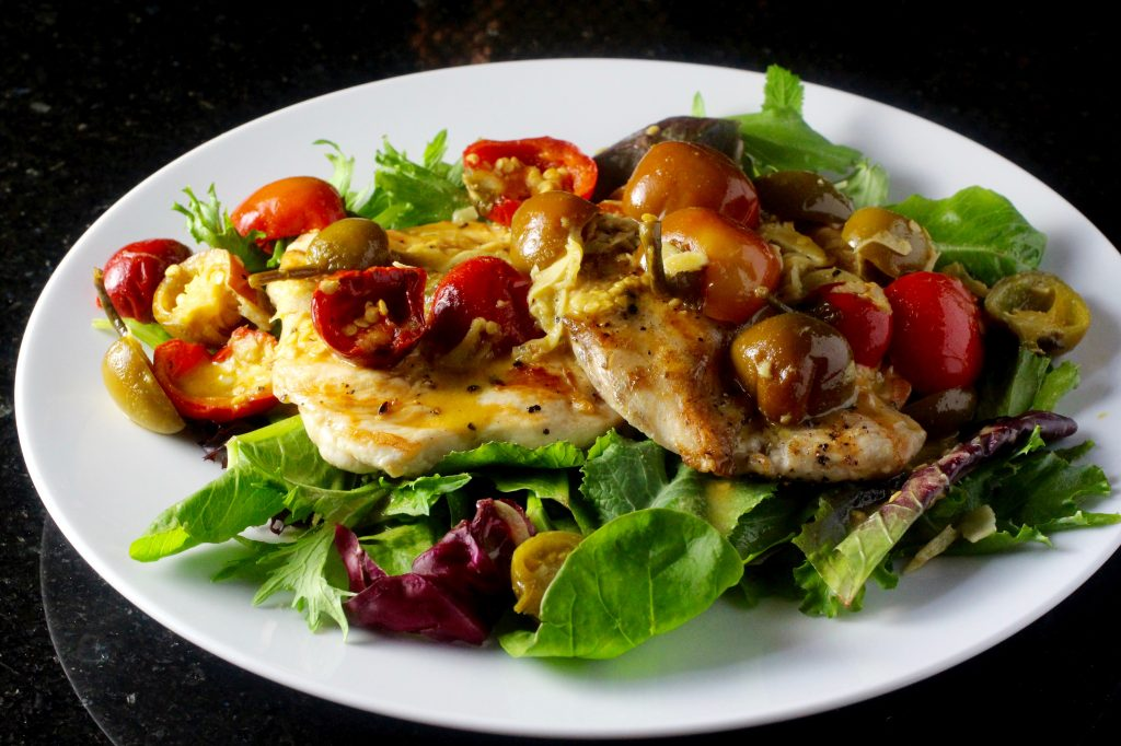 Grilled Chicken Cutlets, Pickled Sweet Cherry Pepper Sauce