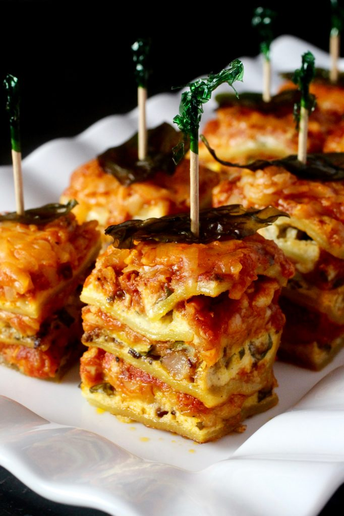 Summer Squash Lasagna with Fried Basil #glutenfree