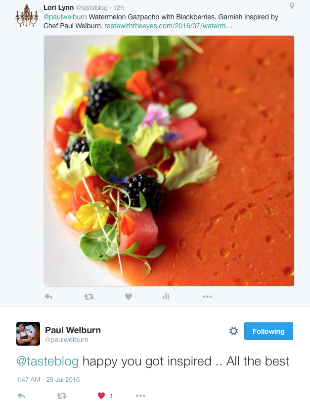 Tweet from Paul Welburn
