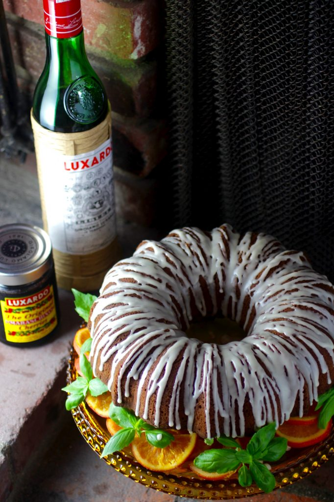 Olive Oil Bundt Cake with Luxardo Glaze, Cherries, and Candied Orange ...