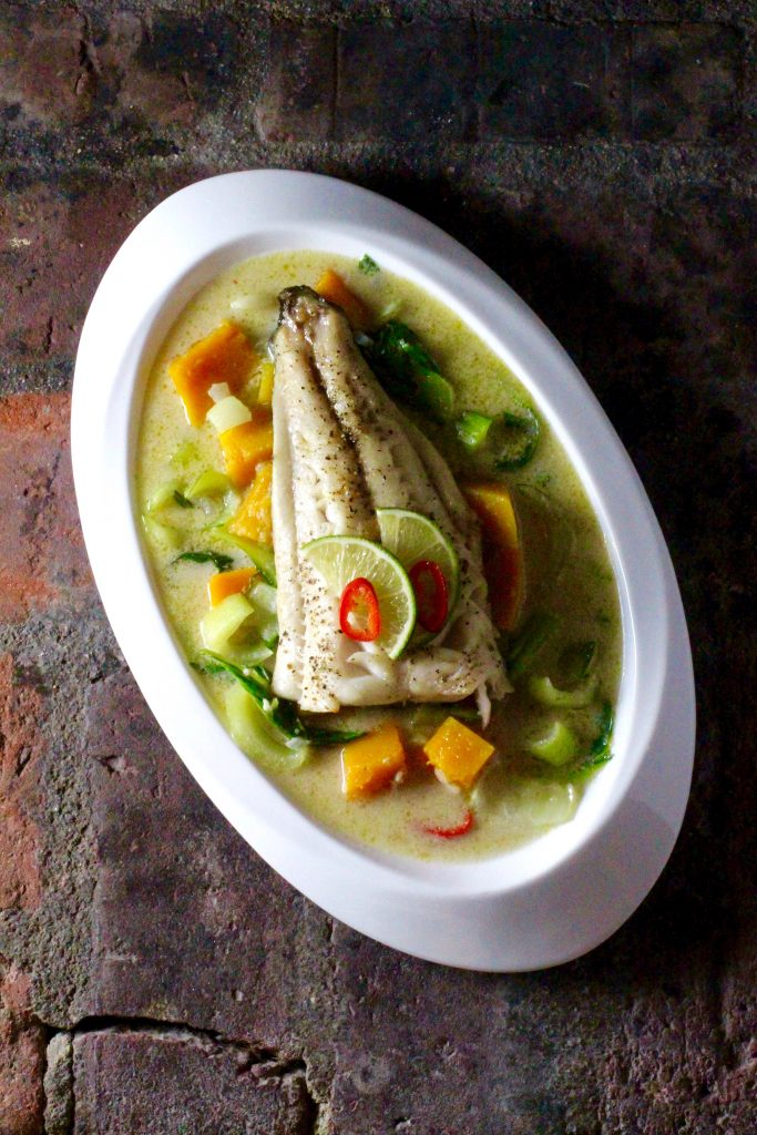 Roasted Sablefish, Butternut Squash and Bok Choy Curry