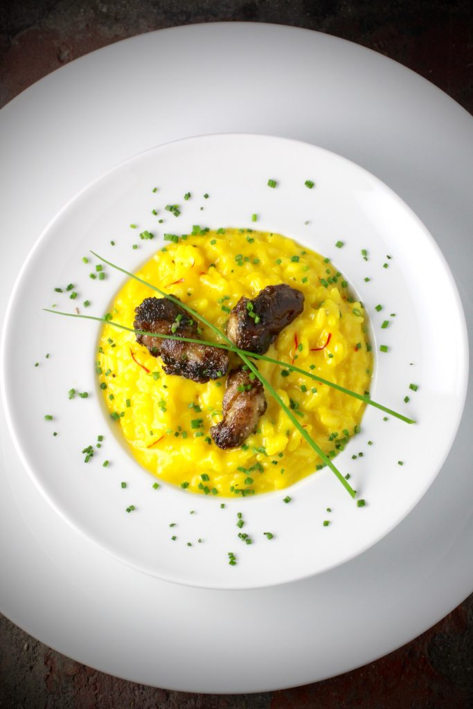 Risotto Milanese (saffron and bone marrow)