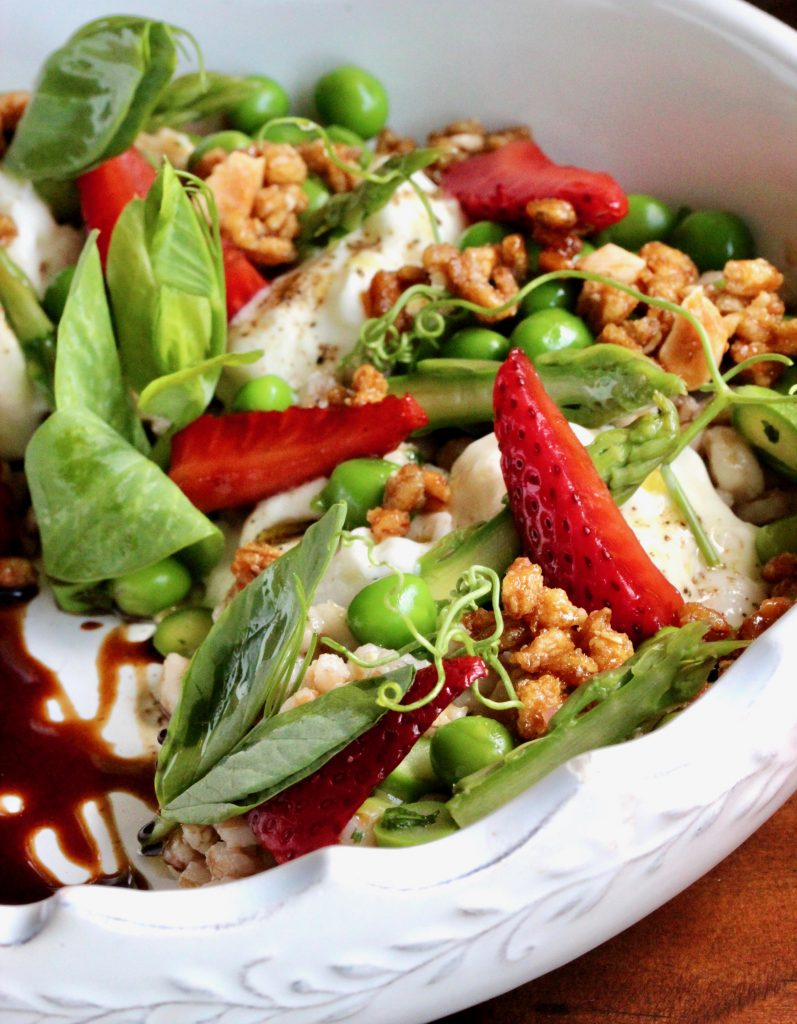 Spring Strawberry Farro Salad by Baran's 2239