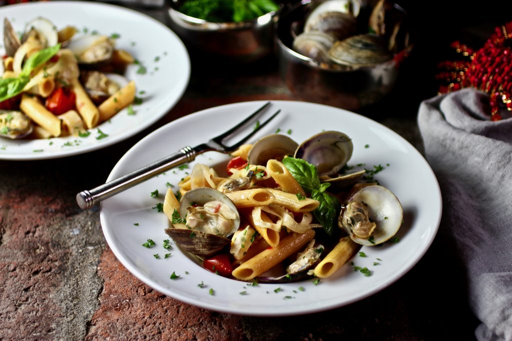 penne with clams #glutenfree