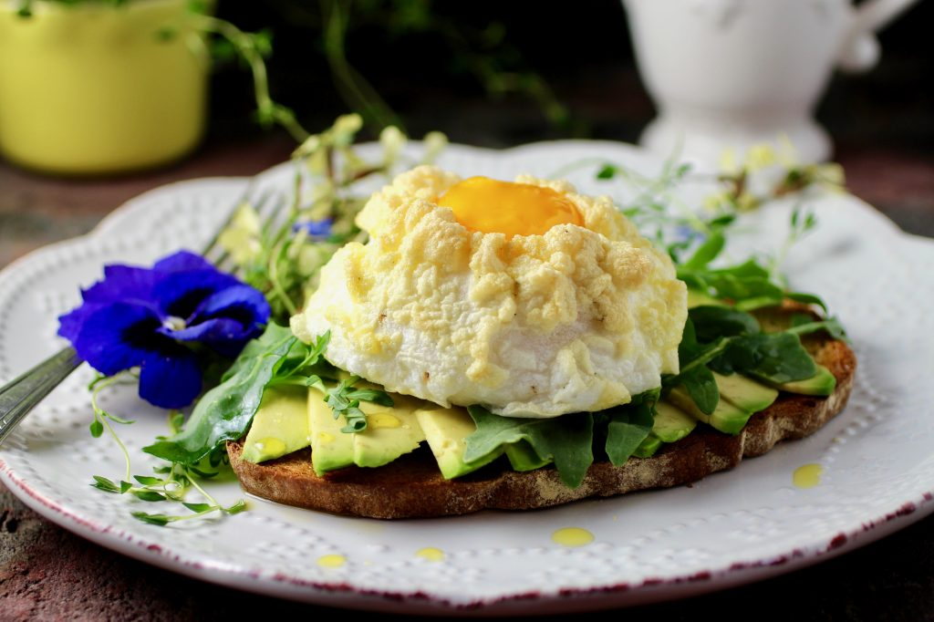 Cloud Egg Avocado Toast with Wild Arugula