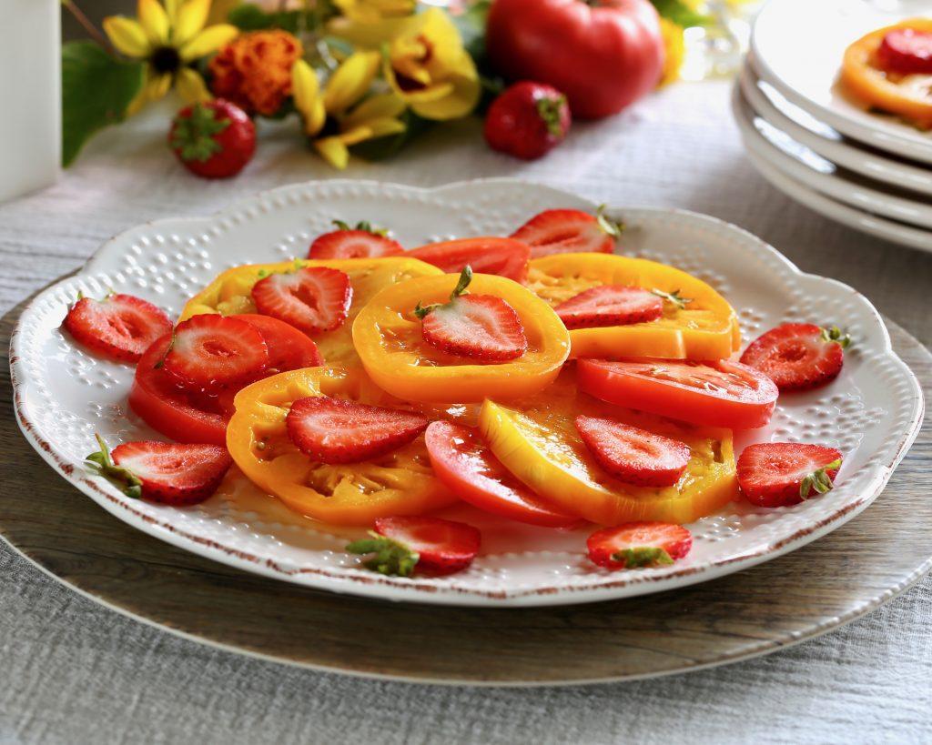 Strawberry Caprese Salad with Burrata