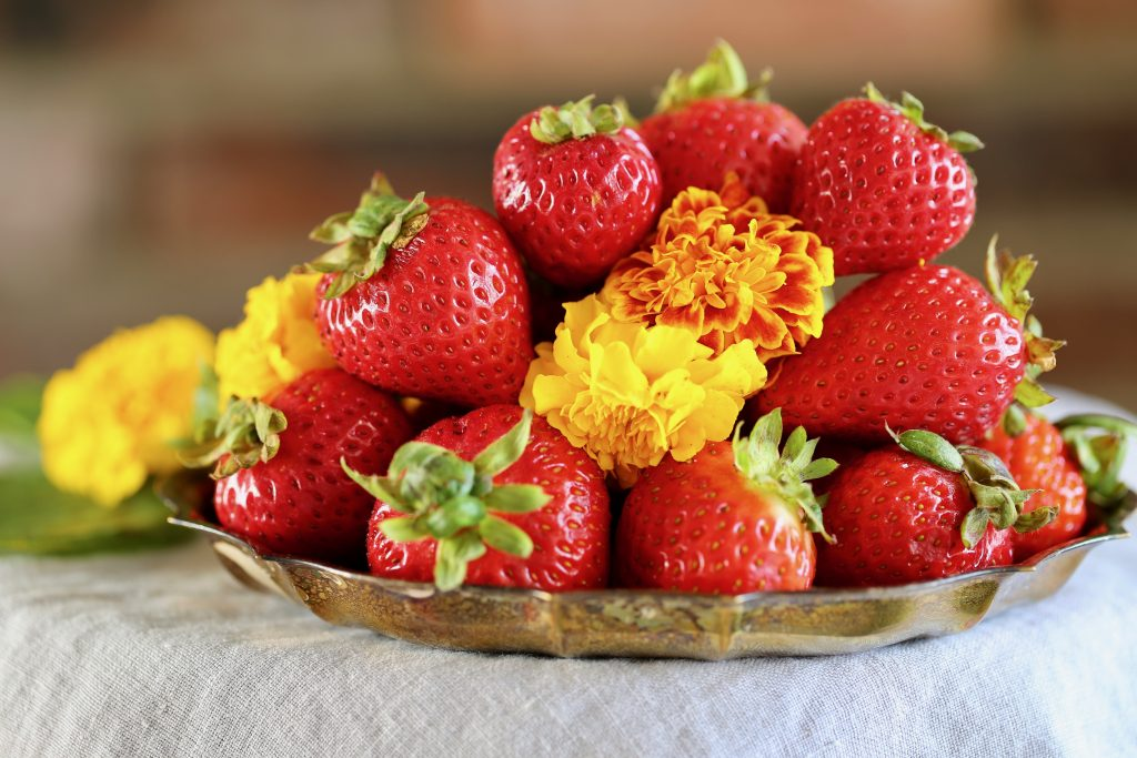 Strawberries and Marigolds