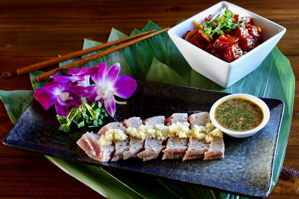 Ahi Poke and Seared Ahi