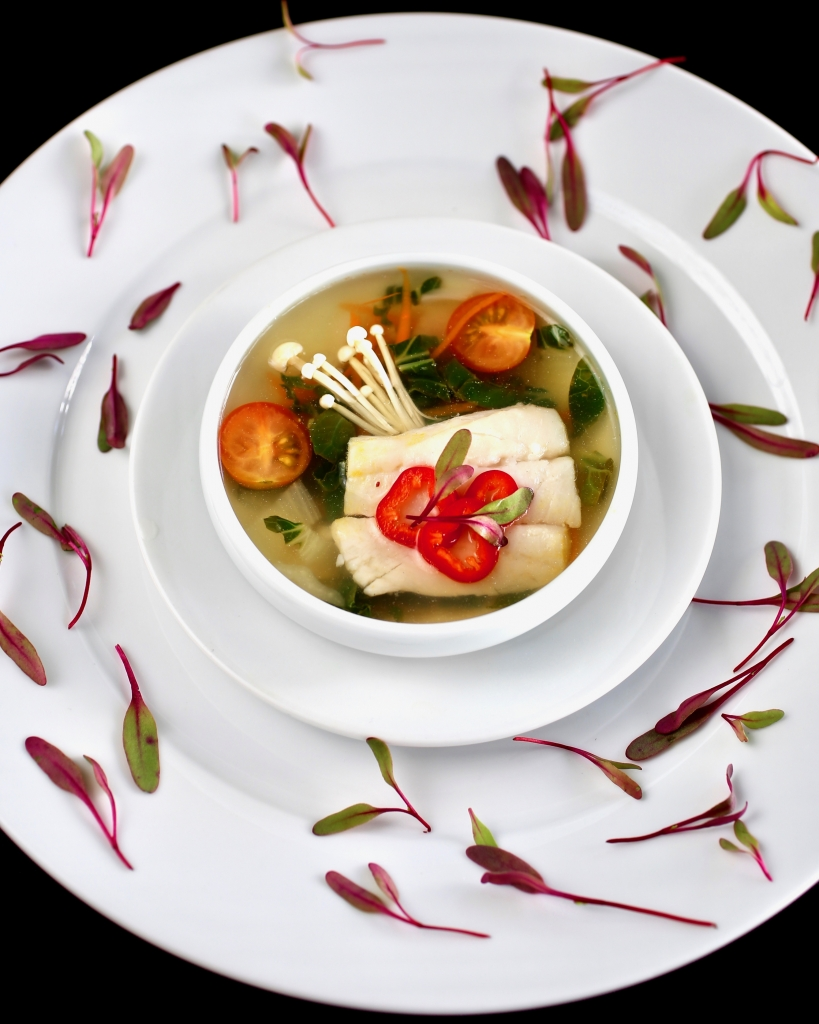 Halibut Sinigang (Filipino Tamarind Soup)
