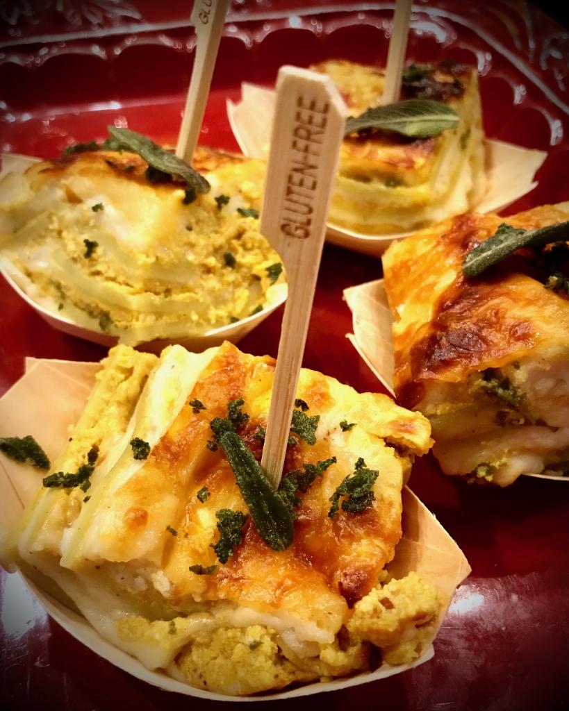 Pumpkin Ricotta Lasagne with Fried Sage #glutenfree