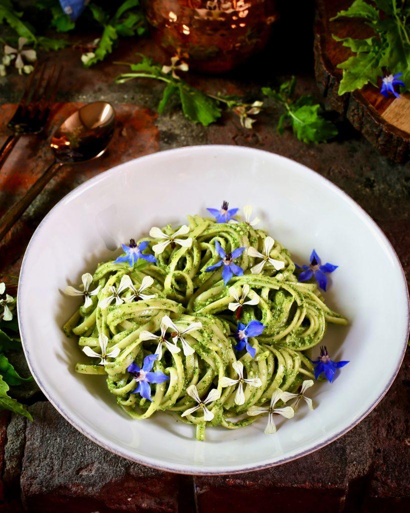 Linguine Arugula Pesto