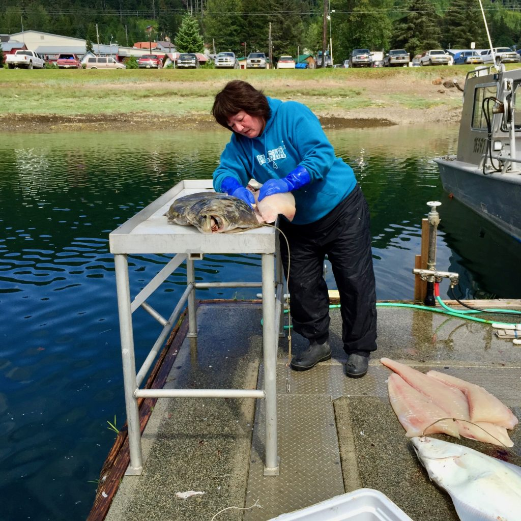 Halibut from the Icy Strait Waters off of Hoonah, Alaska